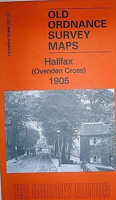 Old Ordnance Survey Maps Halifax (Ovenden Cross) Yorkshire 1905 Godfrey Edition