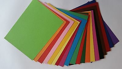 30 A5 Shts Brightly Coloured Cardboard Kids Art Craft