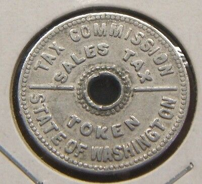 State Of Washington Tax Commission~~Sales Tax Token