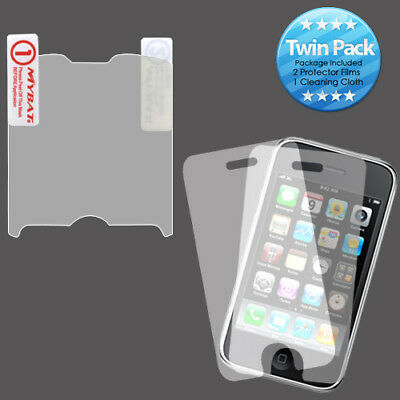 2x LCD Screen Cover Protector Film w Cloth for RIM Blackberry Curve 8330 8350i