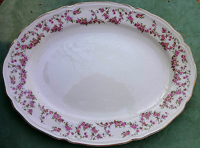 Edwin Knowles Lorraine 1975E1 Pink Rose Swags Large Platter