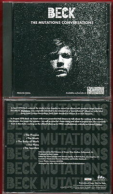 BECK The Mutations Conversations PROMO Interview CD Hansen RARE Neil Strauss NEW