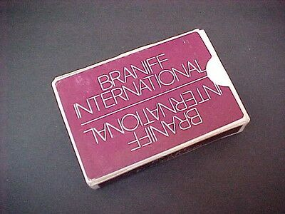 BRANIFF INTERNATIONAL AIRLINES 1970's Complete Deck of Playing Cards Bridge Size