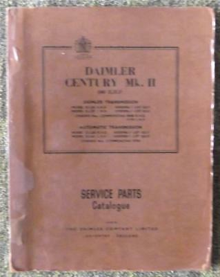 Daimler Century Mk Ii Spare Parts Catalogue Circa 1955?