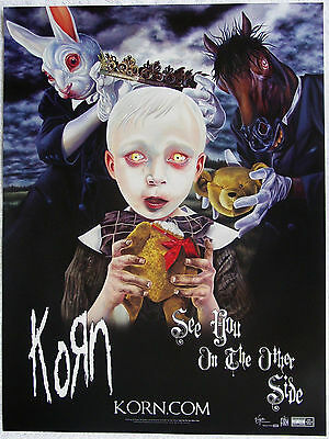 KORN - See You On The Other Side PROMO Poster JONATHAN DAVIS James Munky Shaffer