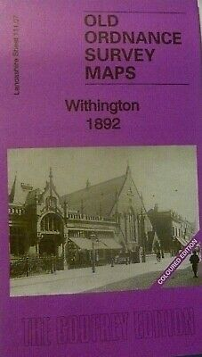 Old Ordnance Survey Maps Withington Leicester Coloured Edition 1892 Godfrey Edit