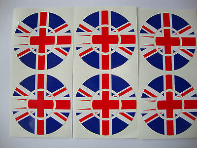 16 New Union Jack Crown Green Bowls  Stickers  8 Finger + 8 Thumb Lawn Bowls