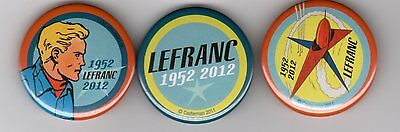 LEFRANC LOT DE 3 BADGES PROMOTIONNELS (50e anniversaire) SUPERBE !!!