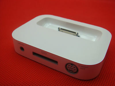 Original Apple iPod iPhone NANO Dock S-Video Charger