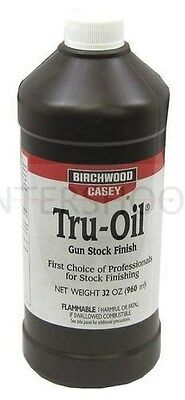 Birchwood Casey TRU OIL 32oz Stock Wood Oil Guns Guitars Stick Making etc