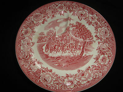 (4) Shenango Roselyn Grill Plates