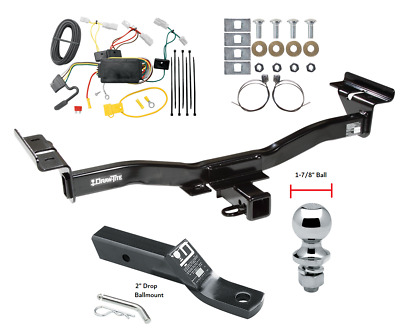 """Trailer Tow Hitch For 07-12 Mazda CX-7 Complete Package w/ Wiring & 1-7/8"""" Ball"""