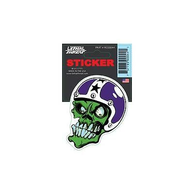 LETHAL THREAT Motorcycle Scooter Bike Board Decal Helmet Mini Sticker RC00044