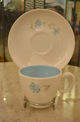 """Vintage Taylor,Smith & Taylor Boutonniere """"Ever Yours"""" Cup & Saucer """"Retro"""" RARE"""
