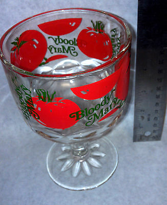 Bloody Mary Huge Stem Glass Rare Colorful New vintage new
