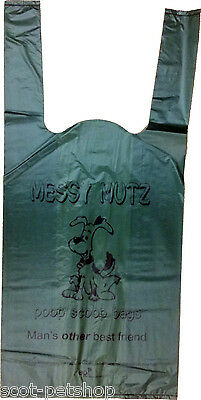 Messy Mutz Green Biodegradable Dog Poop Bags - Dog Waste Bags / Poo Bags