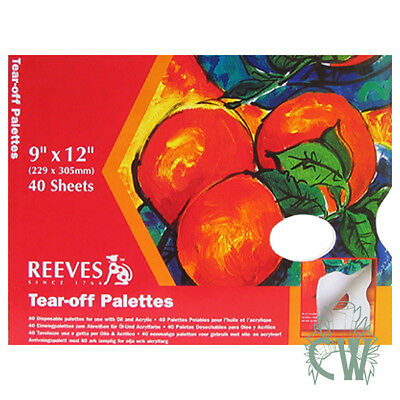 "Reeves Artists Tear Off Paint Palette 9""x12"" For Artists Oil & Acrylic Painting."