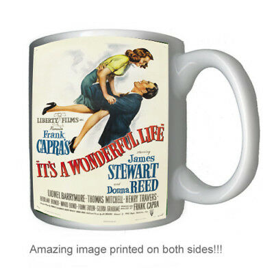Its a Wonderful Life James Stewart vintage style 12 oz coffee mug