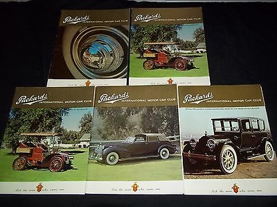 1972-1973 PACKARDS INTERNATIONAL MAGAZINE LOT OF 9 - VINTAGE CAR PHOTOS - G 1695