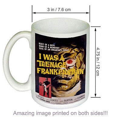 Vintage Science Fiction Horror Movie COFFEE MUG I Was A Teenage Frankenstein