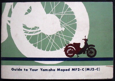 Yamaha Moped Mf2-C (Mj2-C) 50Cc Motorcycle Handbook/manual Undated (Usa)
