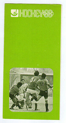 Orig.PRG / Guide    XIX.Olympische Spiele MEXICO 1968  -  HOCKEY  !!  SELTEN