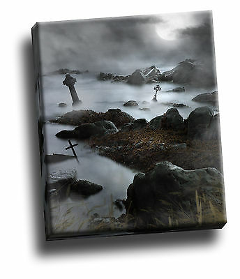 Dark Waters Statue Gothic Giclee Canvas Wall Decoration Picture
