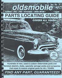 FIND OLDSMOBILE AND 442 Parts with book 1965 1966 1967 1968 1969 1970 1971  1972