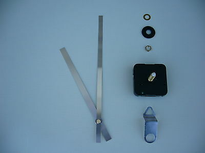 High Torque Clock Movement  Extra Long Spindle 200Mm Silver Metal Hands