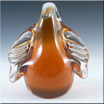 Wedgwood Topaz Glass Penguin Paperweight RSW72 - Labelled