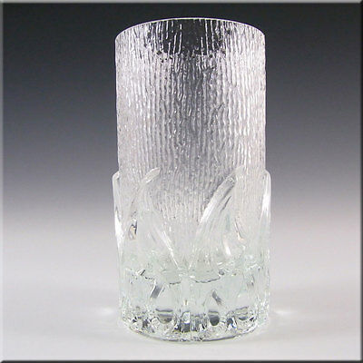 Wedgwood/Stennett-Willson Glass Flame Tumbler / Vase