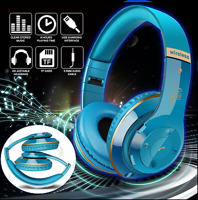 Wireless Bluetooth Headphones Foldable Stereo  Super Bass Headset Over the Ear