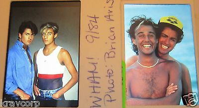 Wham/george Michael—Two 1984 Color Photo Slides