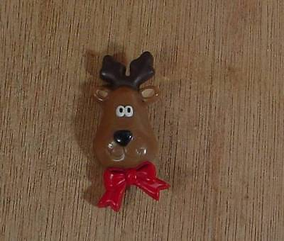 1986 Hallmark Cards, Inc Santa's Reindeer Christmas Brooch Pin