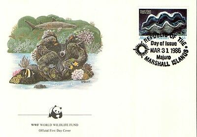 (70278) FDC  - Marshall Islands  - Giant Clam - 1986