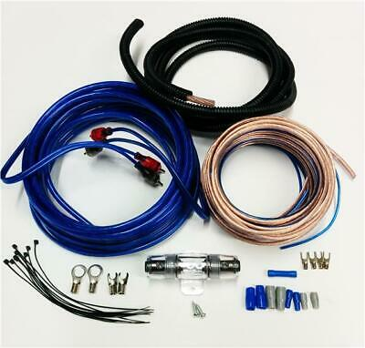 Amplifier Wiring Kit 1200 W Power Car Amp 8 Awg Gauge Sub Cable Fuse Holder