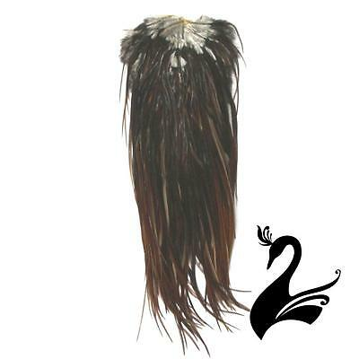 Feather Whiting - Herbert Miner - Rooster Saddle - Medium Brown - Craft Milliner