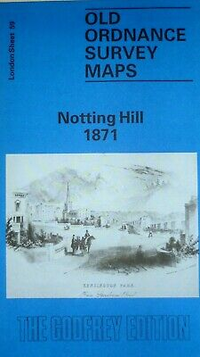 Old Ordnance Survey Detailed Maps Notting Hill  London 1871  Sheet 59 Brand New