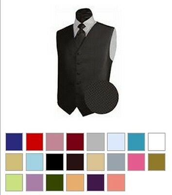 New Mens GEO Tuxedo Suit Vest and Necktie Various Colors All Sizes