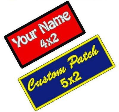 6 Custom Embroidered Name Patch Motorcycle Biker Tags Badges Embroidery IRON ON