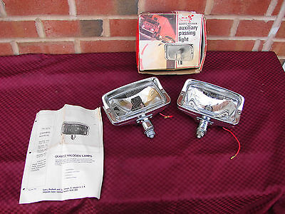 70s VINTAGE NOS SEARS QUARTZ HALOGEN CHROME AUXILIARY PASSING LIGHT