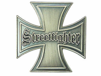 PIN Streetfighter Kreuz Biker Cross Ansteckpin EK  aus Metall  #326