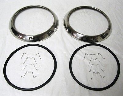 1947-1954 Chevy GMC Car & Pickup Truck Stainless Steel Headlight Rim Ring Kit SS