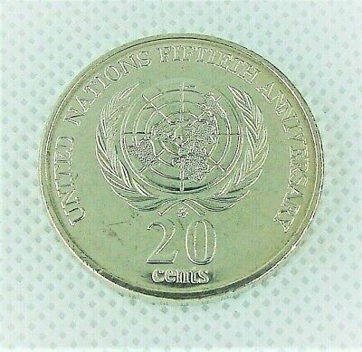 20c Coin UNCIRC 1995 United Nations 50th Anniversary. 1st commemorative 20 Cent!
