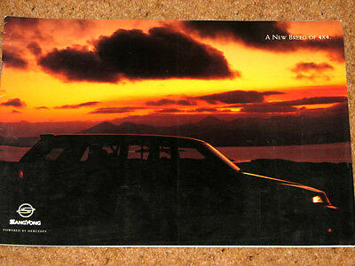 SSANGYONG MUSSO Brochure c1994-1998