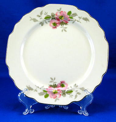 W S George BLOSSOMS Bread and Butter Plate 6.625 in. Lido Canarytone Flowers