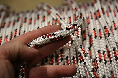 """100 feet NEW 7/16"""" Double Braid Rope 6300Lbs BREAKING STRENGTH NEW 2017 Stock"""