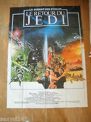 Original Star Wars Return Of The Jedi 1983 Huge French Cinema Grande Poster