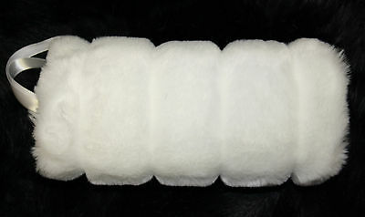 White Faux Fur Hand Warmer  Muff Set Of 6 (Six) Perfect For Bridal Wedding Nwt