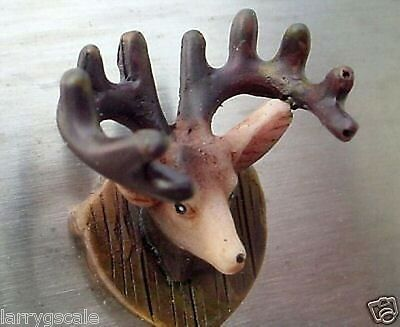 Mounted Deer Head Miniature 1/24 Scale G Scale Diorama Accessory Item